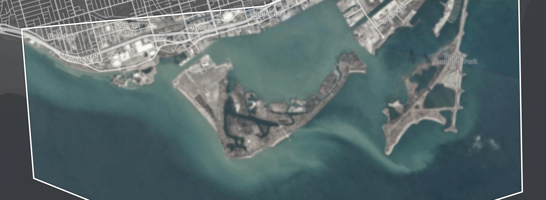 Toronto Harbour via @planetlabs Satellite Imagery