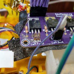 F header shrouding missing on the super bright lights board (v1.0)
